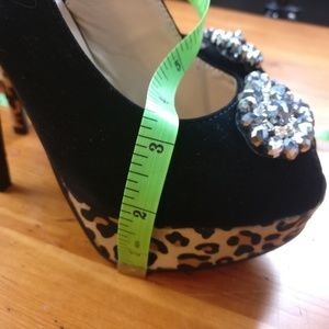 Charlotte Russe Shoes - Charlotte Russe Delicacy Leopard New Platform Heel